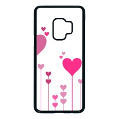 Heart Rosa Love Valentine Pink Samsung Galaxy S9 Seamless Case(black) by HermanTelo