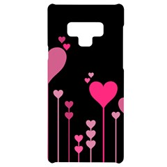 Heart Rosa Love Valentine Pink Samsung Note 9 Black Uv Print Case  by HermanTelo