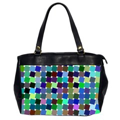 Geometric Background Colorful Oversize Office Handbag (2 Sides) by HermanTelo