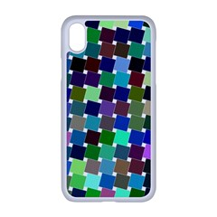 Geometric Background Colorful Iphone Xr Seamless Case (white)