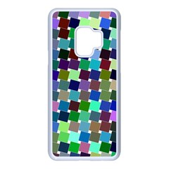 Geometric Background Colorful Samsung Galaxy S9 Seamless Case(white)
