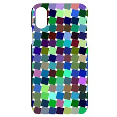 Geometric Background Colorful Iphone X/xs Black Uv Print Case