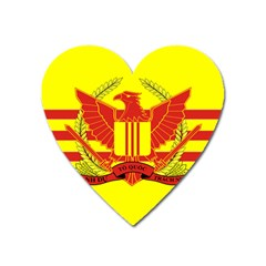 War Flag Of South Vietnam Heart Magnet by abbeyz71