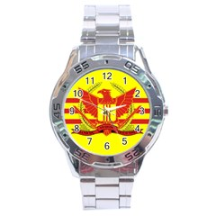 War Flag Of South Vietnam Stainless Steel Analogue Watch by abbeyz71