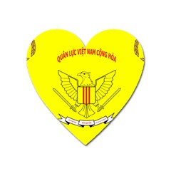 Flag Of Republic Of Vietnam Military Forces Heart Magnet by abbeyz71