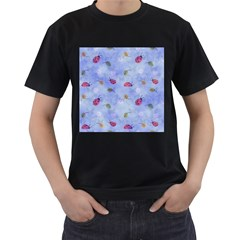 Ladybug Blue Nature Men s T Shirt (black)