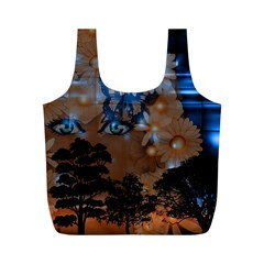 Landscape Woman Magic Evening Full Print Recycle Bag (m)