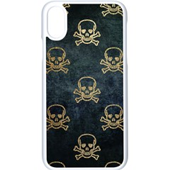 Golden Glitter Skeleton Gothic Iphone X Seamless Case (white)