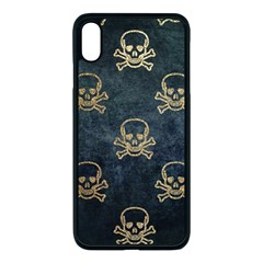 Golden Glitter Skeleton Gothic Iphone Xs Max Seamless Case (black)