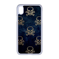 Golden Glitter Skeleton Gothic Iphone Xr Seamless Case (white)