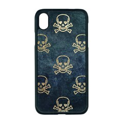 Golden Glitter Skeleton Gothic Iphone Xr Seamless Case (black)