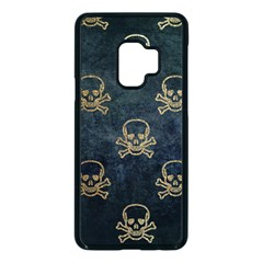 Golden Glitter Skeleton Gothic Samsung Galaxy S9 Seamless Case(black)