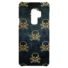 Golden Glitter Skeleton Gothic Samsung S9 Plus Black Uv Print Case