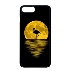 Moon Reflection Flamenco Animal Iphone 8 Plus Seamless Case (black)