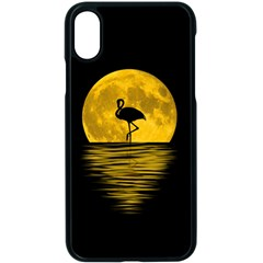 Moon Reflection Flamenco Animal Iphone Xs Seamless Case (black)