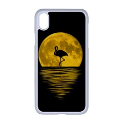 Moon Reflection Flamenco Animal Iphone Xr Seamless Case (white)