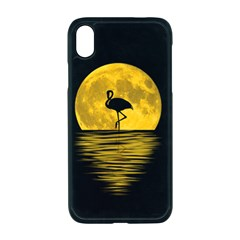 Moon Reflection Flamenco Animal Iphone Xr Seamless Case (black)
