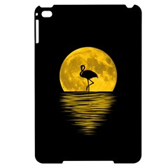 Moon Reflection Flamenco Animal Apple Ipad Mini 4 Black Uv Print Case by HermanTelo