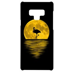 Moon Reflection Flamenco Animal Samsung Note 9 Black Uv Print Case  by HermanTelo