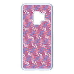 Pattern Abstract Squiggles Gliftex Samsung Galaxy S9 Seamless Case(white)