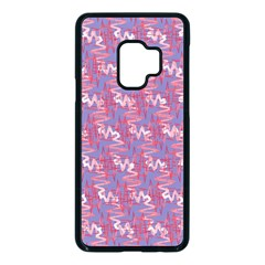 Pattern Abstract Squiggles Gliftex Samsung Galaxy S9 Seamless Case(black)