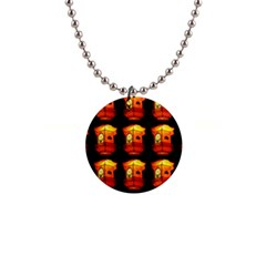 Paper Lantern Chinese Celebration 1  Button Necklace by HermanTelo
