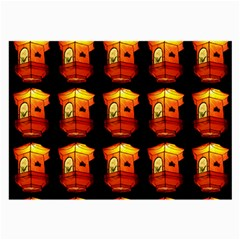 Paper Lantern Chinese Celebration Large Glasses Cloth (2 Sides) by HermanTelo