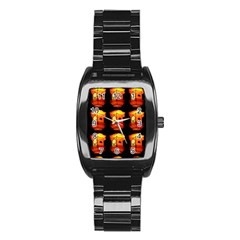 Paper Lantern Chinese Celebration Stainless Steel Barrel Watch by HermanTelo
