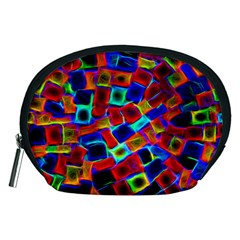 Neon Glow Glowing Light Design Accessory Pouch (medium) by HermanTelo