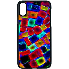 Neon Glow Glowing Light Design Iphone X Seamless Case (black) by HermanTelo