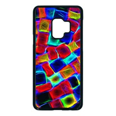 Neon Glow Glowing Light Design Samsung Galaxy S9 Seamless Case(black)