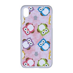 Owl Bird Cute Pattern Background Iphone Xr Seamless Case (white)