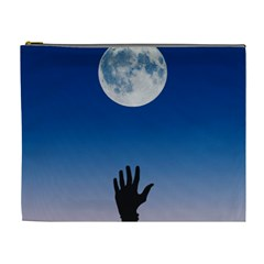Moon Sky Blue Hand Arm Night Cosmetic Bag (xl) by HermanTelo