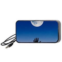Moon Sky Blue Hand Arm Night Portable Speaker