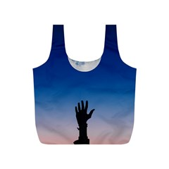 Moon Sky Blue Hand Arm Night Full Print Recycle Bag (s) by HermanTelo