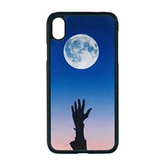 Moon Sky Blue Hand Arm Night Iphone Xr Seamless Case (black)