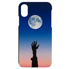 Moon Sky Blue Hand Arm Night Iphone X/xs Black Uv Print Case