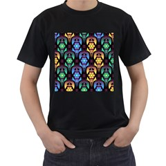 Pattern Background Bright Blue Men s T Shirt (black) by HermanTelo