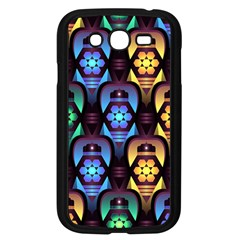 Pattern Background Bright Blue Samsung Galaxy Grand Duos I9082 Case (black) by HermanTelo