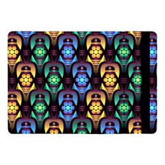 Pattern Background Bright Blue Apple Ipad Pro 10 5   Flip Case