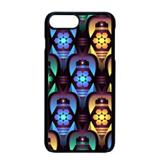 Pattern Background Bright Blue Iphone 8 Plus Seamless Case (black)