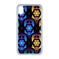 Pattern Background Bright Blue Iphone Xr Seamless Case (white) by HermanTelo