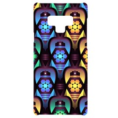 Pattern Background Bright Blue Samsung Note 9 Black Uv Print Case  by HermanTelo