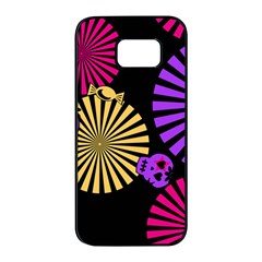Seamless Halloween Day Dead Samsung Galaxy S7 Edge Black Seamless Case by HermanTelo