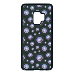 Seamless Pattern Background Circle Samsung Galaxy S9 Seamless Case(black)