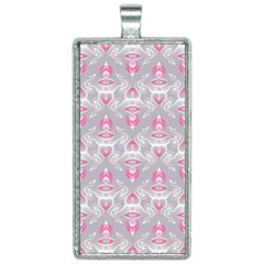 Seamless Pattern Background Rectangle Necklace