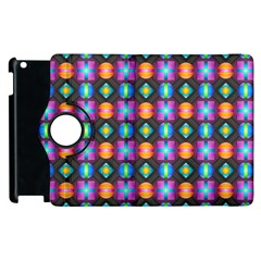 Squares Spheres Backgrounds Texture Apple Ipad 3/4 Flip 360 Case by HermanTelo