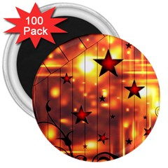Star Radio Light Effects Magic 3  Magnets (100 Pack) by HermanTelo