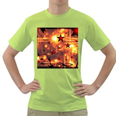 Star Radio Light Effects Magic Green T Shirt by HermanTelo