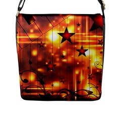 Star Radio Light Effects Magic Flap Closure Messenger Bag (l)